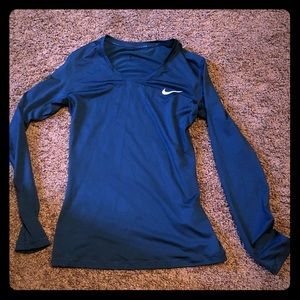 Long sleeved Nike dry fit shirt